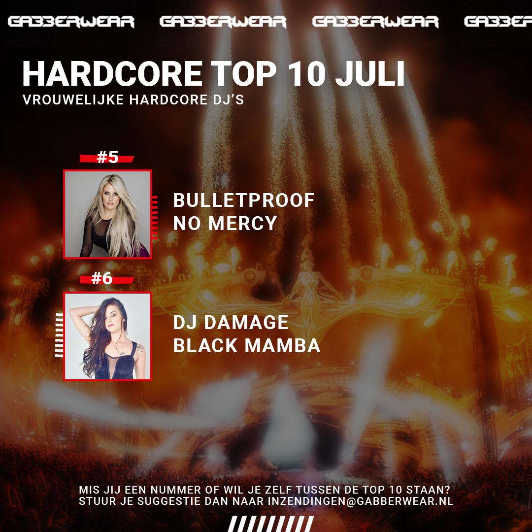 De Hardcore top 10 juli: De 10 beste vrouwelijke hardcore dj's