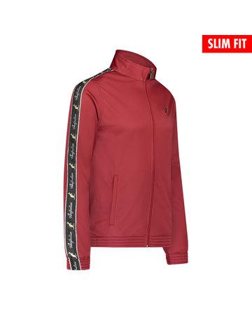 Australian Australian Uni Fit Track Jacket with tape (Bordeaux/Black)