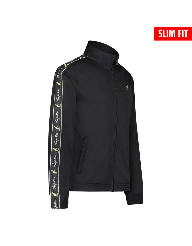 Australian Australian Uni Fit Track Jacket with tape (Black/Black)