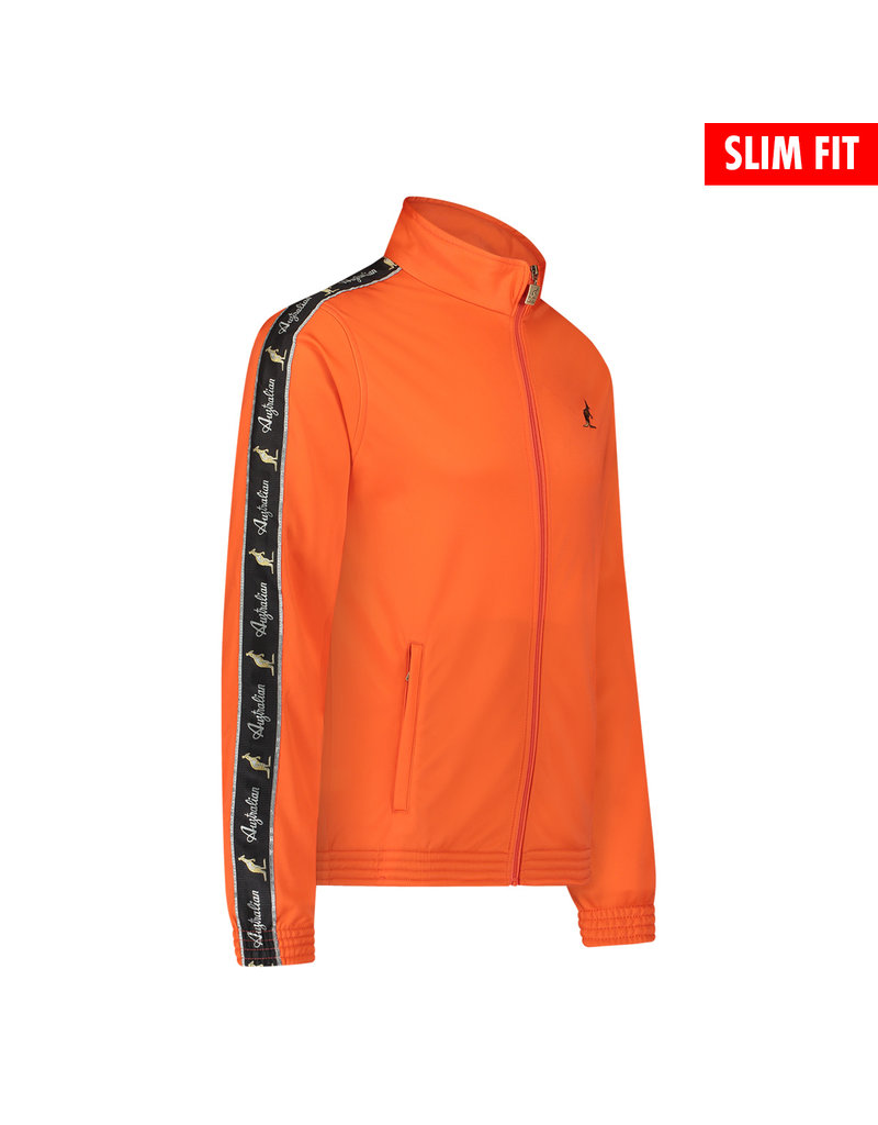 Australian Australian Uni Fit Track Jacket with tape (Lava/Black)