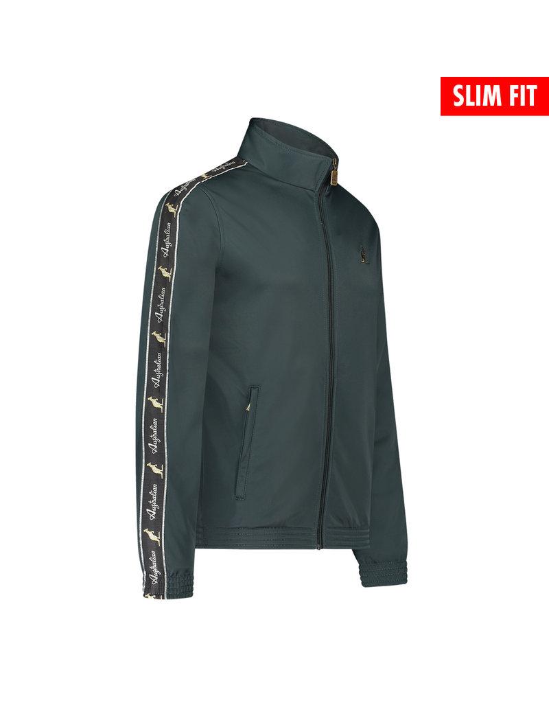 Australian Australian Uni Fit Track Jacket with tape (Woods Green/Black)