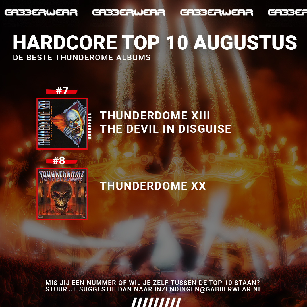 Hardcore top 10: de beste Thunderdome albums aller tijden!