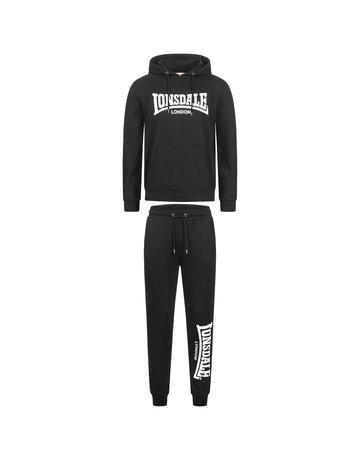 Lonsdale Lonsdale Mens Hooded Tracksuit (Slim Fit) 'Cloudy'