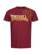 Lonsdale Lonsdale T-Shirt 'Melplash' (Oxblood/Yellow)