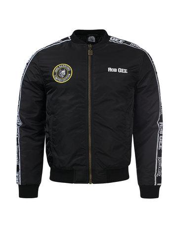 100% Hardcore 100% Hardcore x Rob Gee Bomber Jacket 'NATAS'