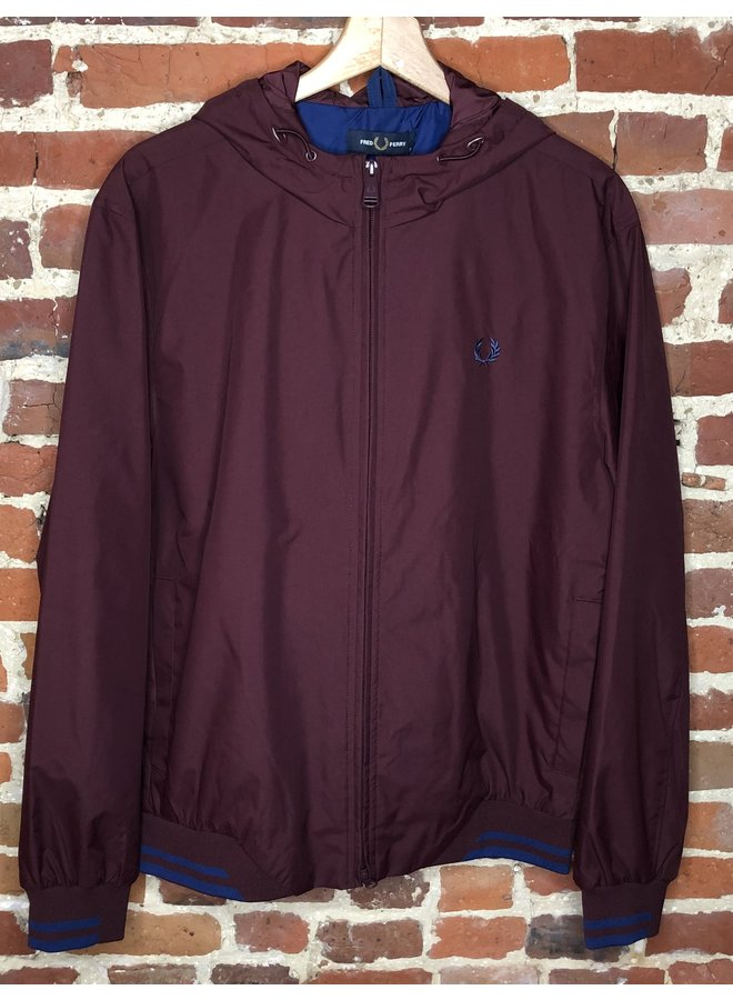 Tipped hooded sport jacket