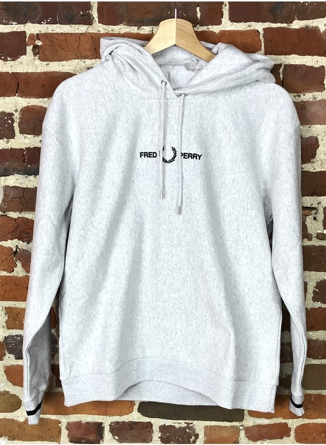 Embroidered hooded sweatshirt iced grey marl ( Femme )
