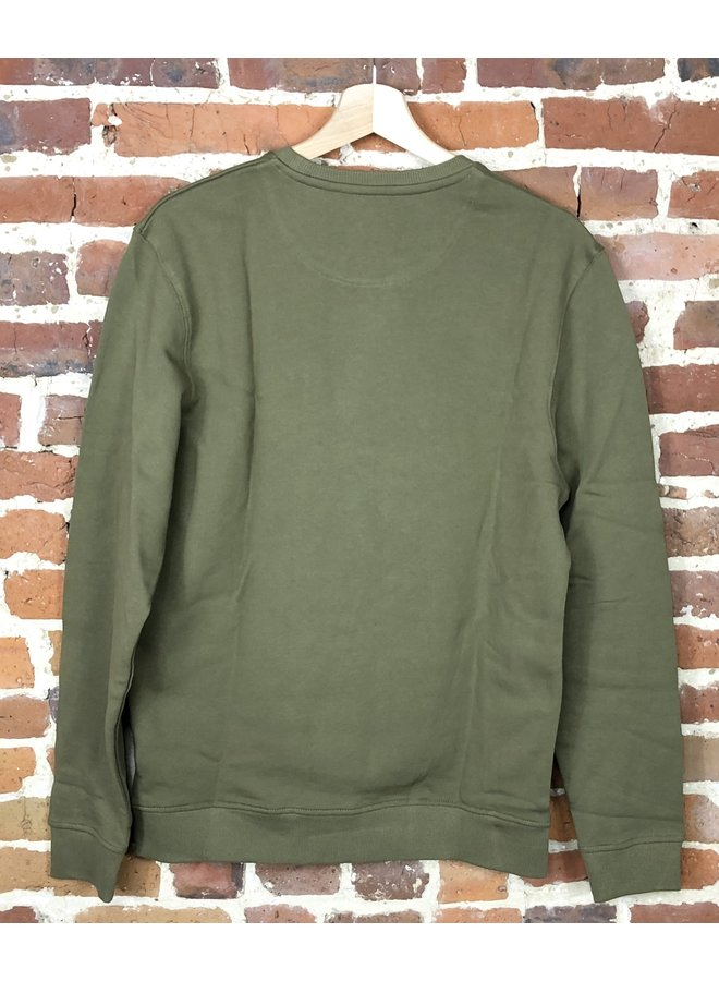 Crew neck sweatshirt lichen green
