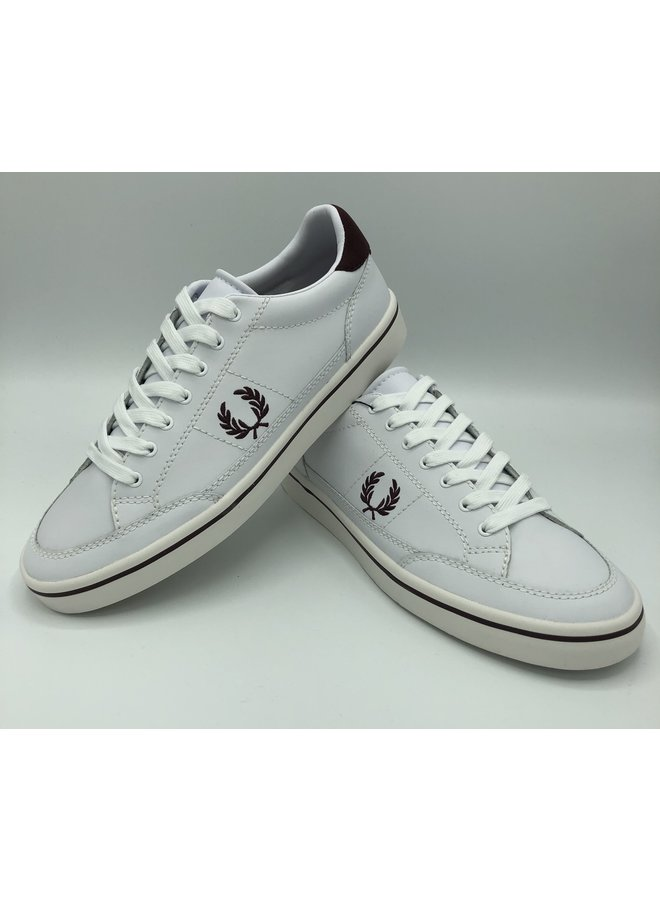 Baskets fred perry white/burgundy