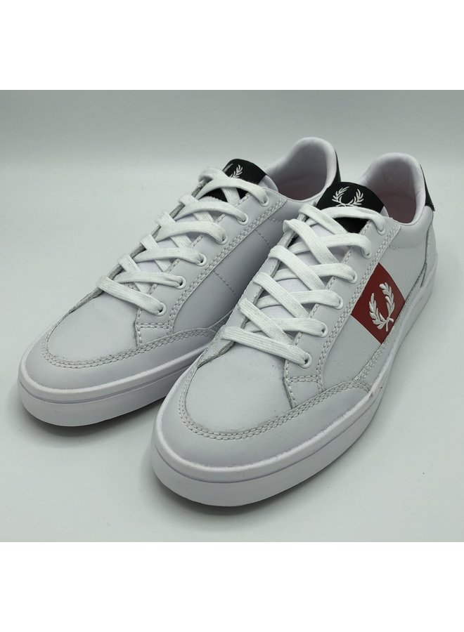 Deuce leather white / red