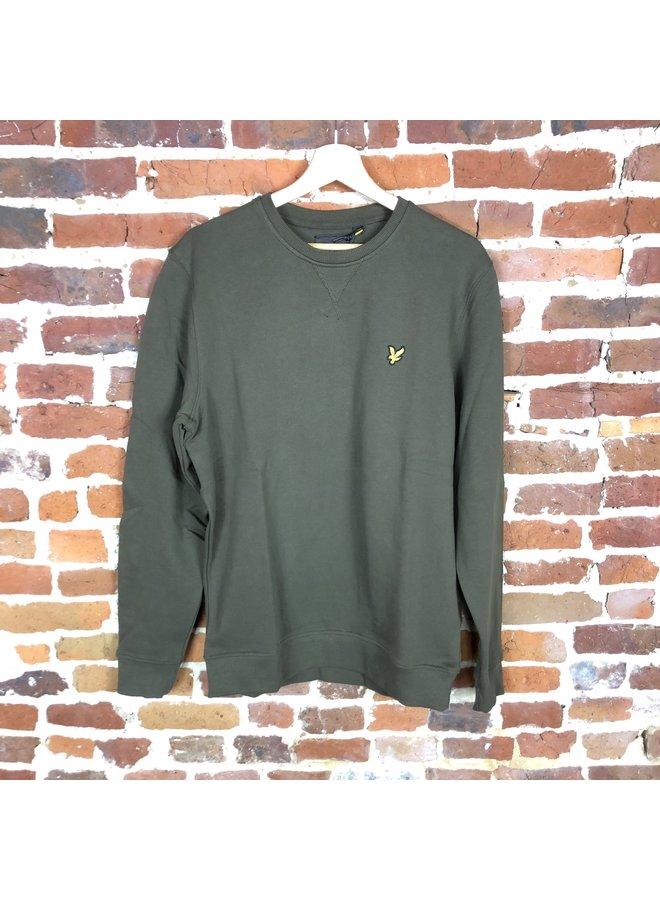 Crew neck sweatshirt trek green