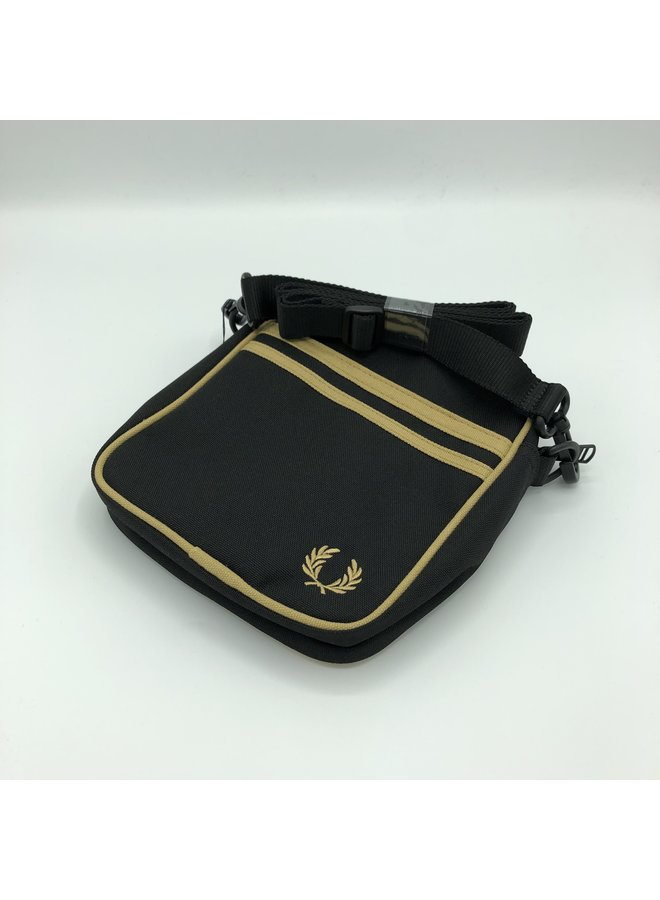 Twin tipped side bag black/champagne