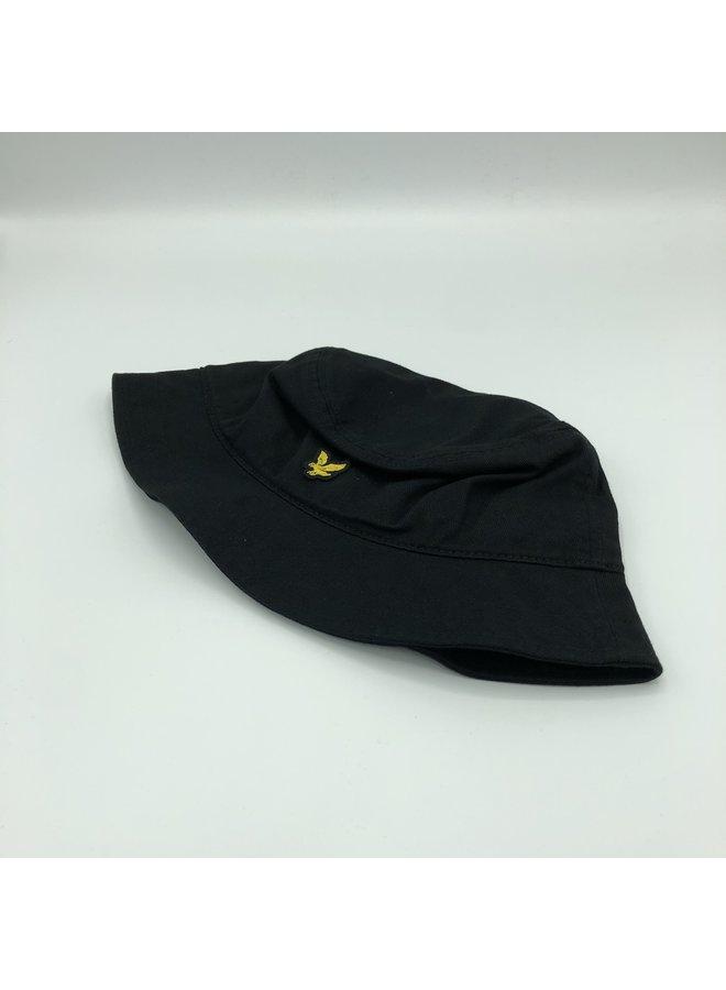 Twill bucket hat black