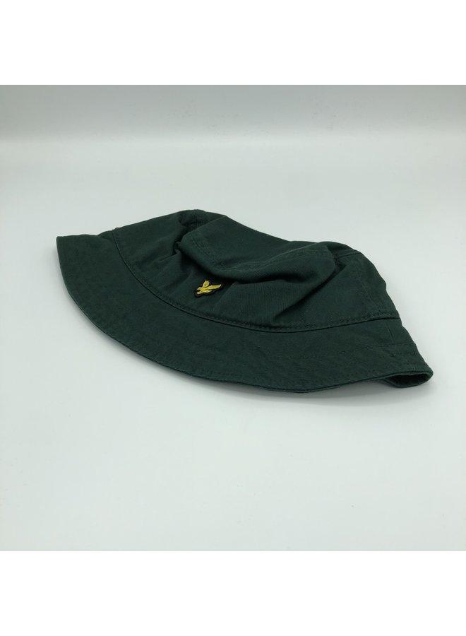 Twill bucket hat jade green