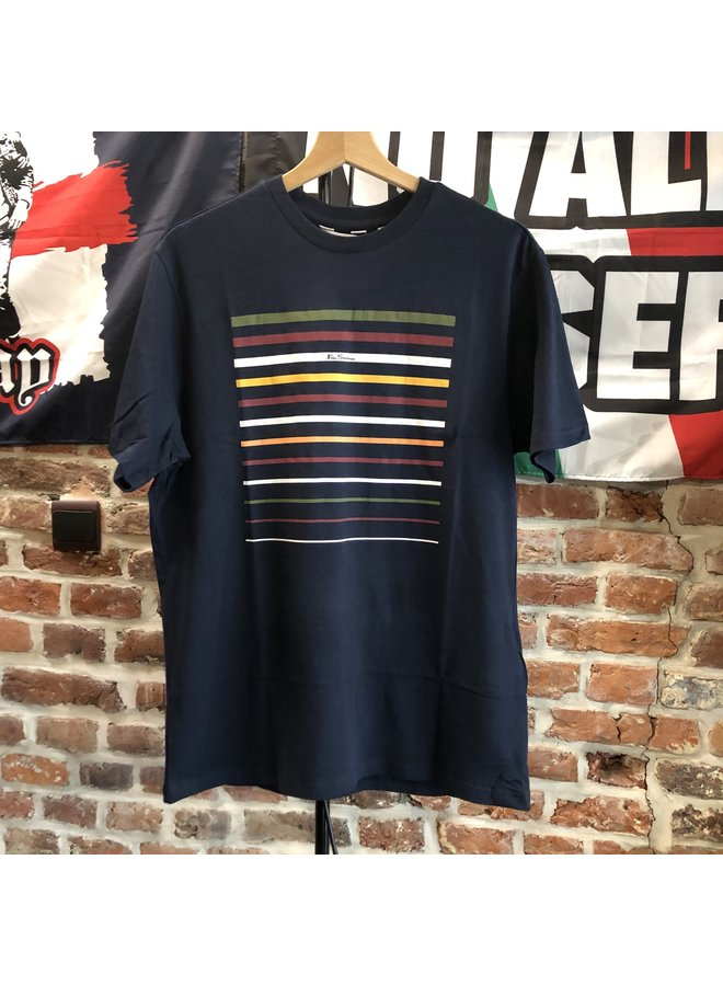 T-shirt Bensherman rayé dark navy