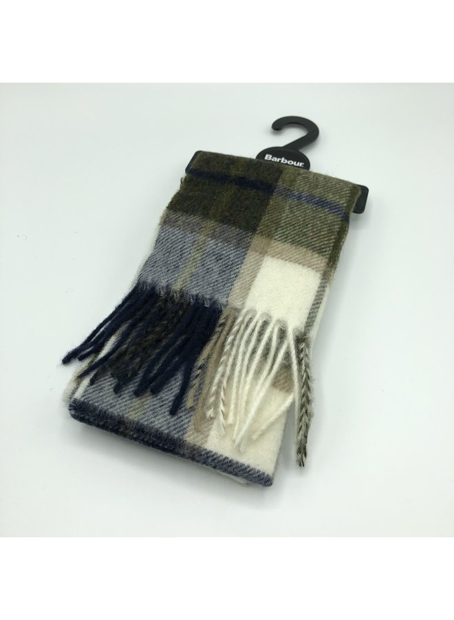 Barbour derwent check scarf  Forest/pearl
