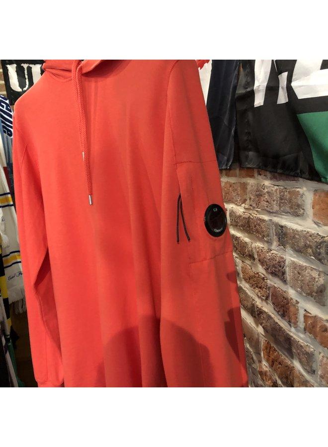 Sweat à capuche cp orange/red