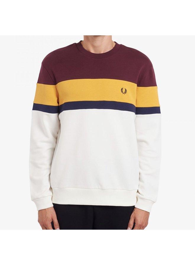 Colourblock sweatshirt mahogany