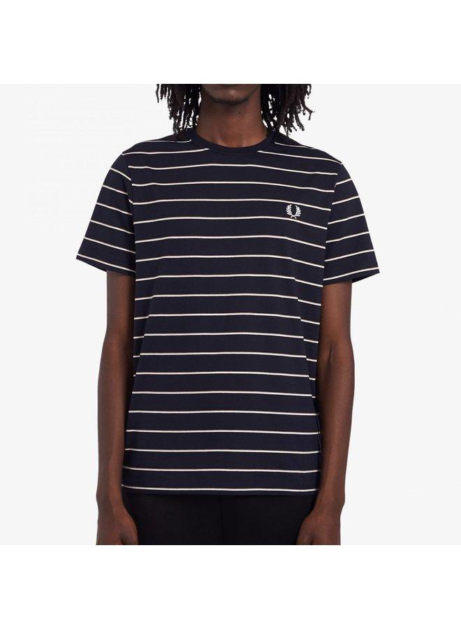 Fine stripe t-shirt navy