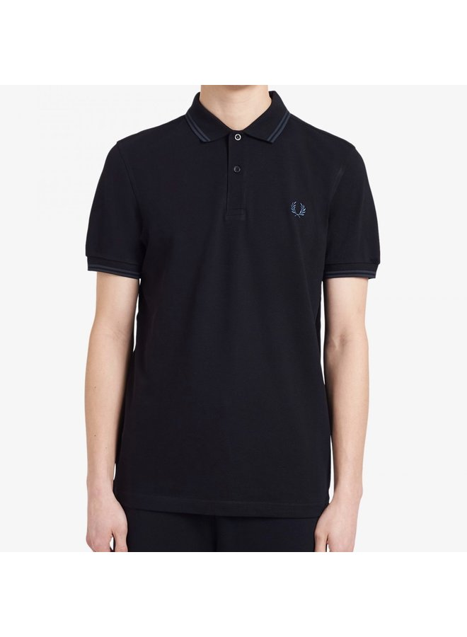 Twin tipped fred perry shirt black/petrol