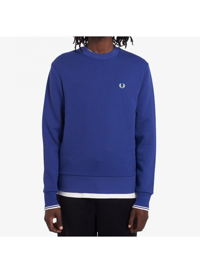 Crew neck sweatshirt nautical blue