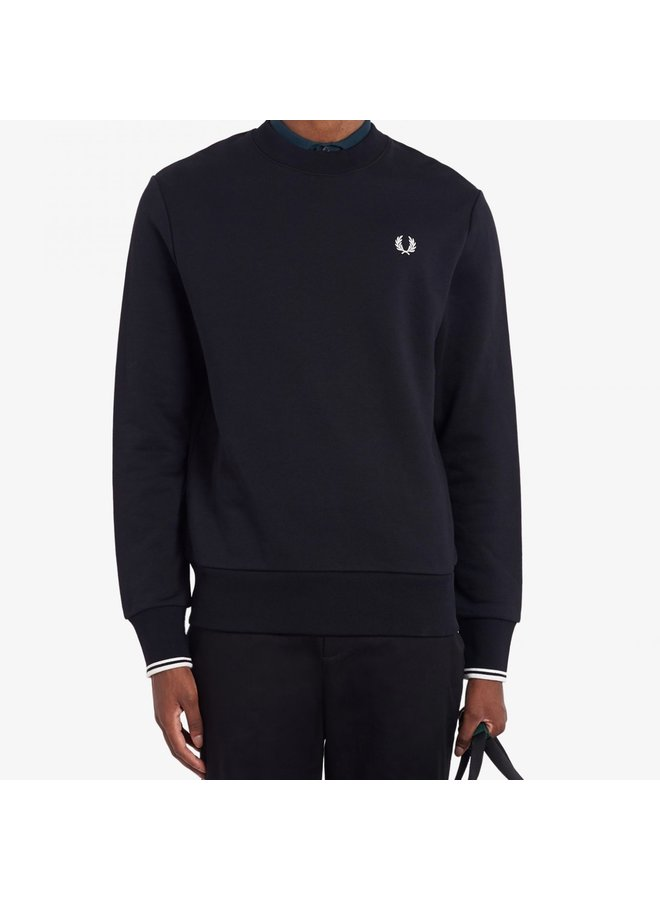 Crew neck sweatshirt black