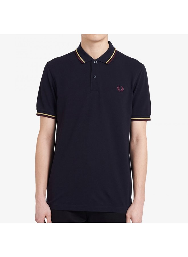 Twin tipped fred perry shirt / navy-champ-maho