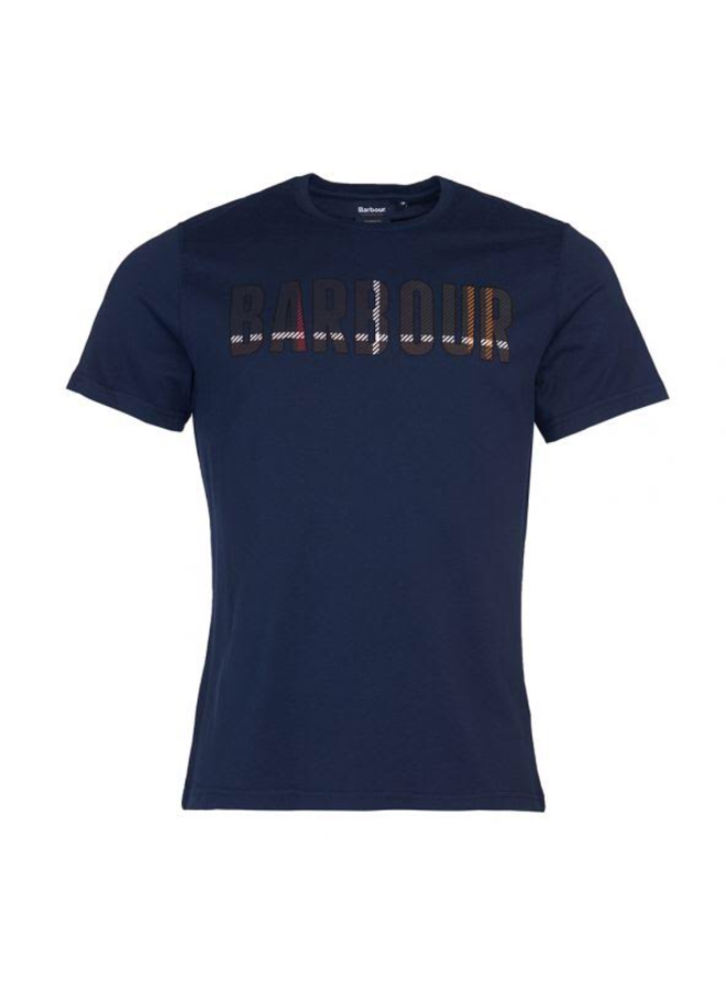 Barbour wallace tee navy