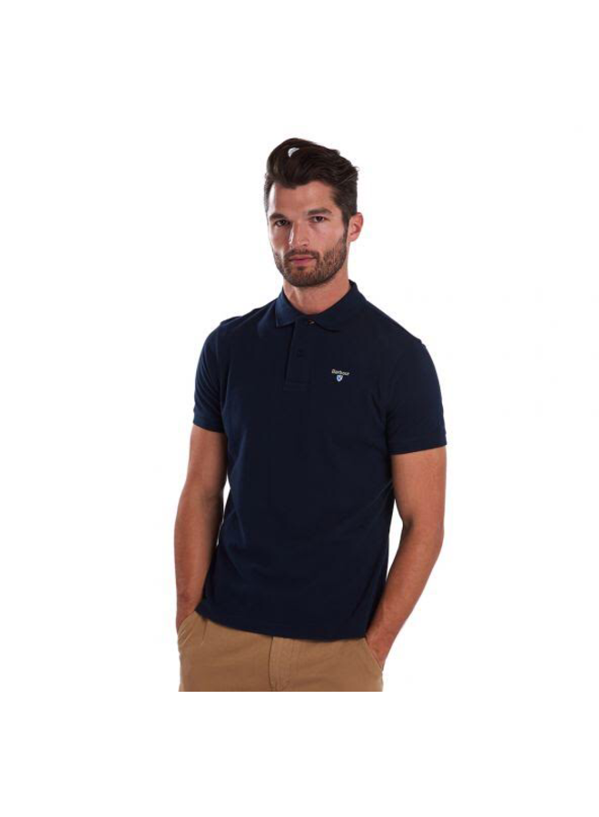 Barbour saltire pima jersey polo navy