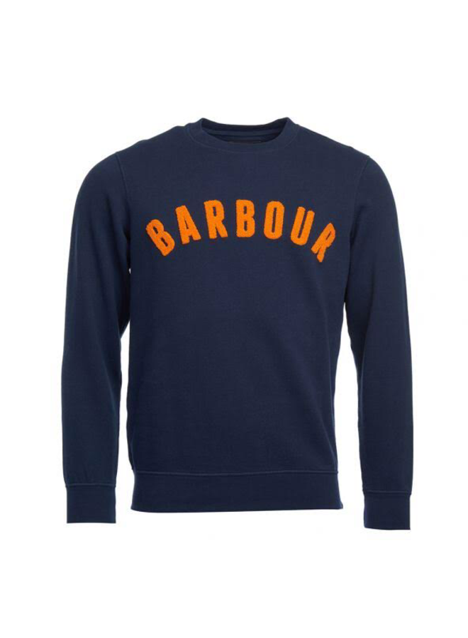 Barbour prep logo crew navy
