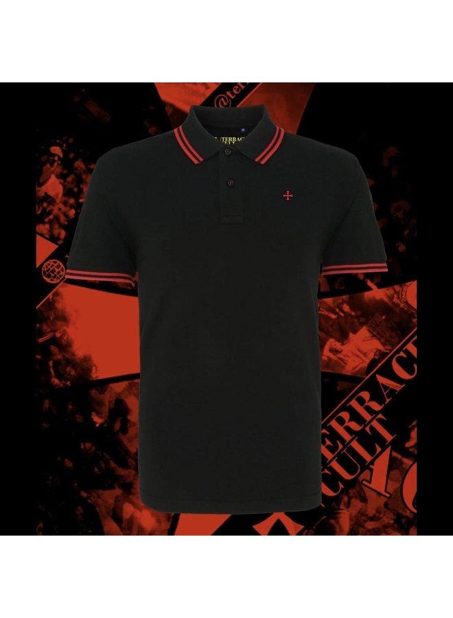 Pique polo. Black/red