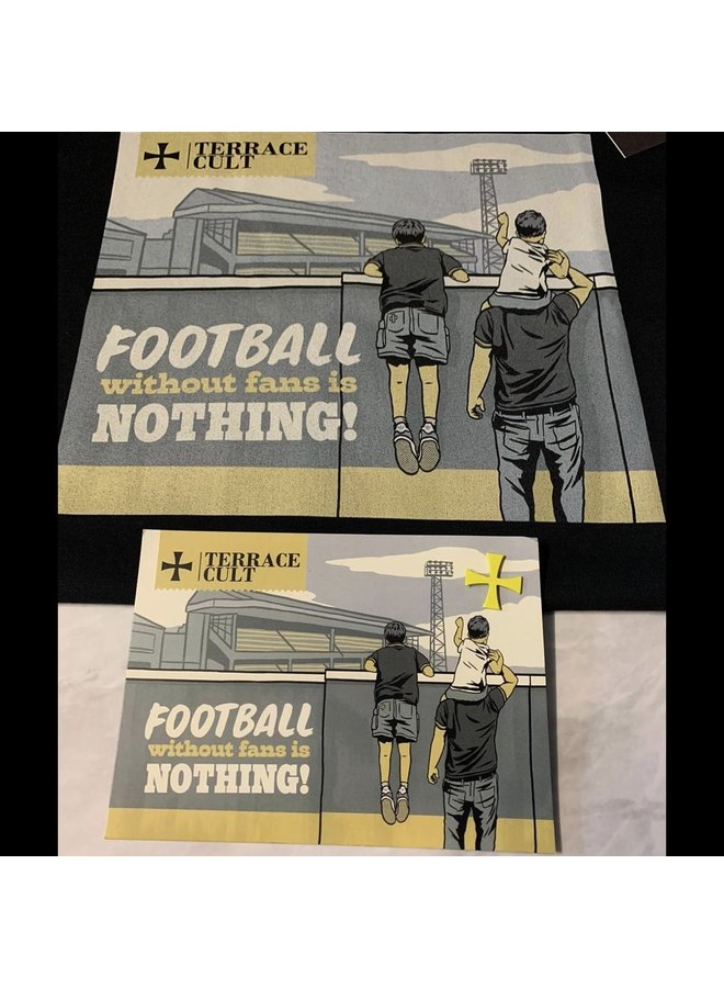 Football Without fans terrace Cult black