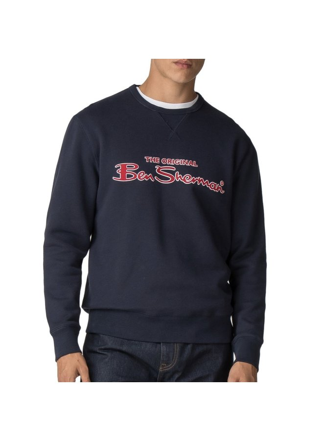 Signature logo sweatshirt dark navy
