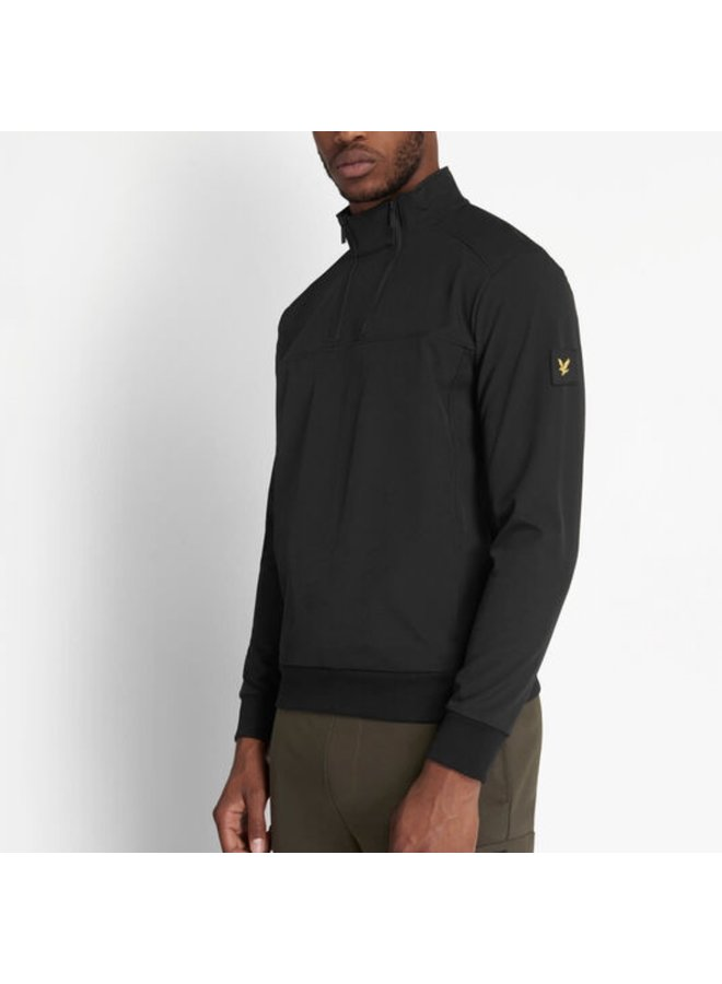 Double zip softshell jet black