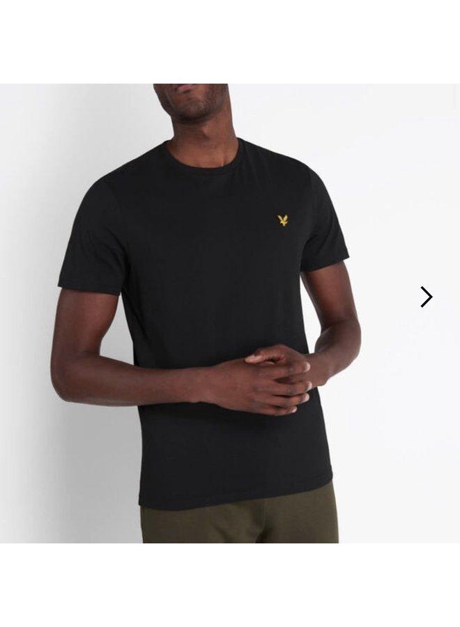 Crew neck t-shirt true black
