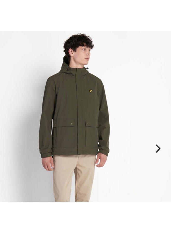 Hooded pocket jacket trek green