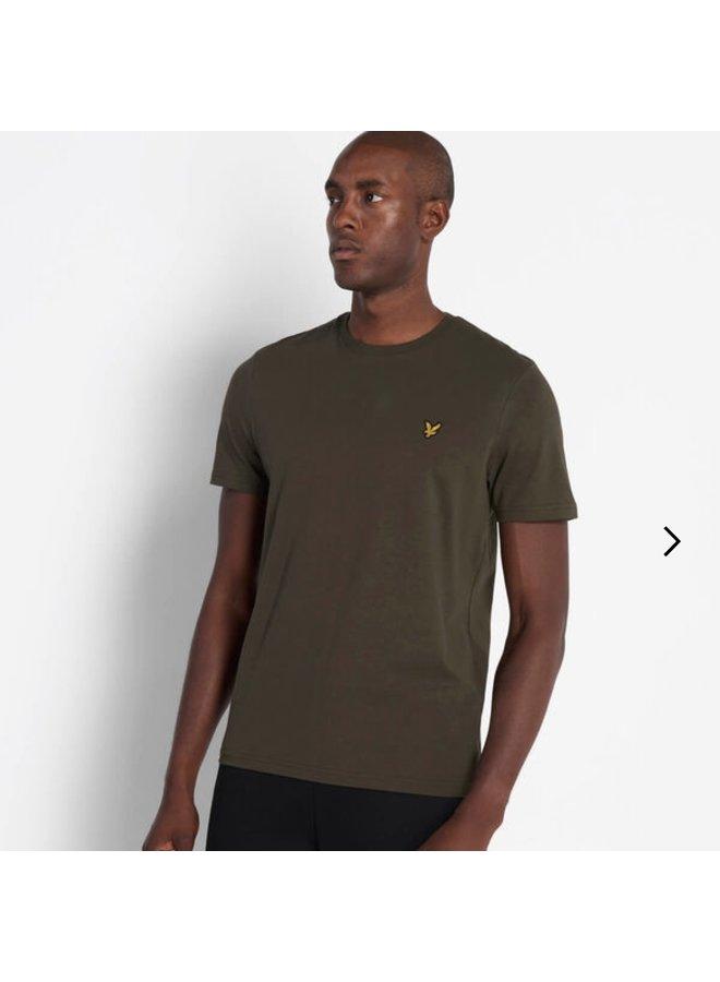 Crew neck t-shirt treck green