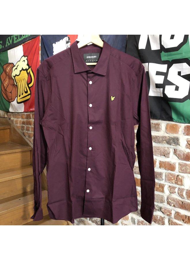 Slim fit shirt - burgundy