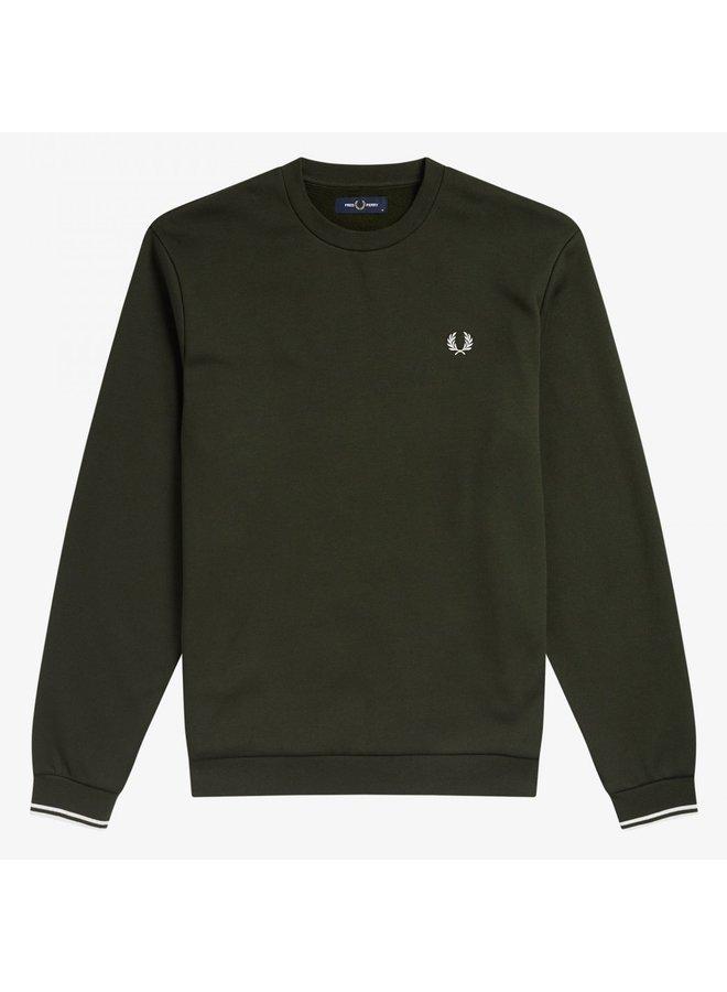 Crew neck sweatshirt hunting green