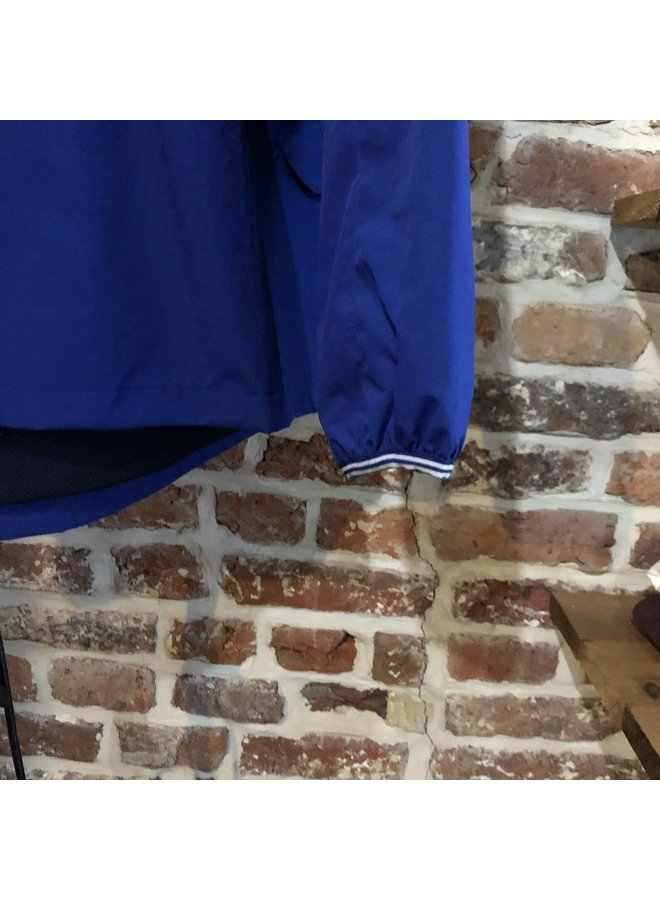 Panelled zip through jacket / blue