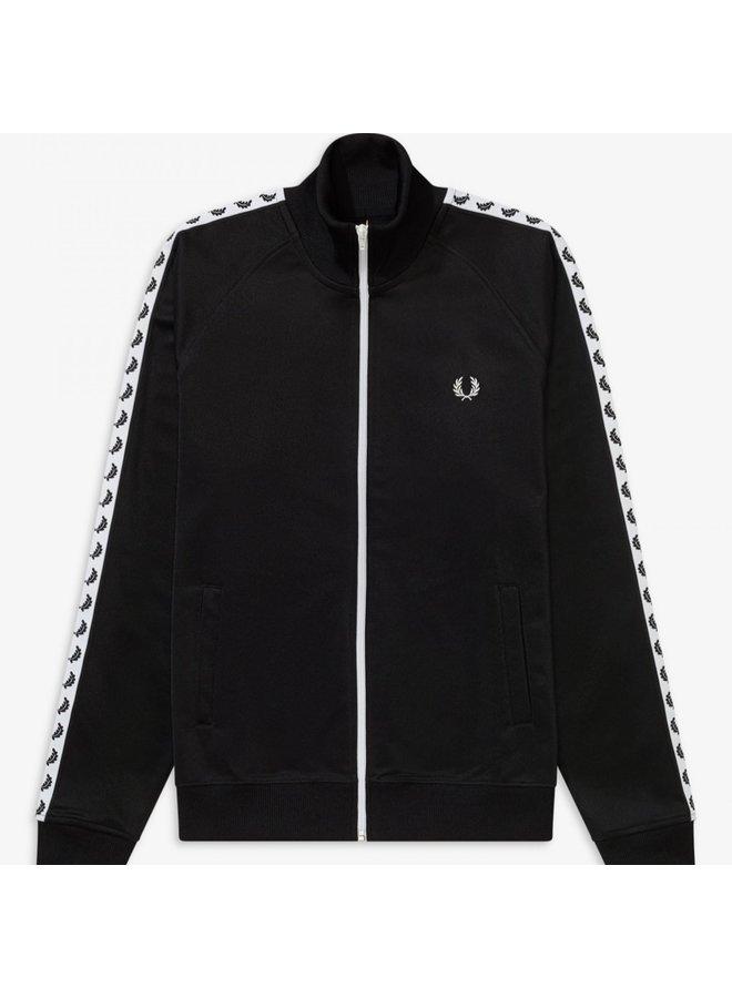 Taped track jacket black