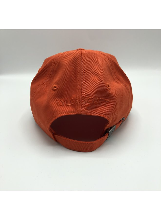 Baseball cap burnt orange