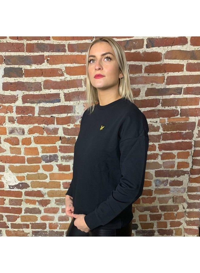 Oversized sweatshirt femme jet black