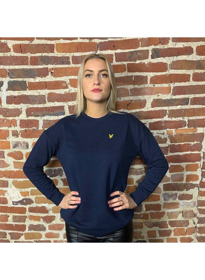 Oversized sweatshirt ink blue woman