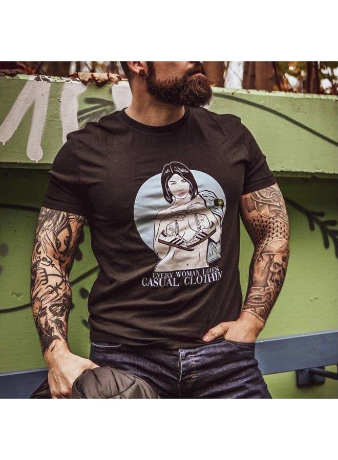 T-shirt district «femme» black