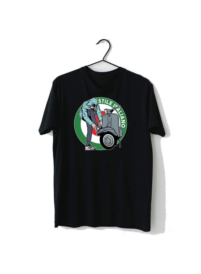 T-shirt district «vespa» black