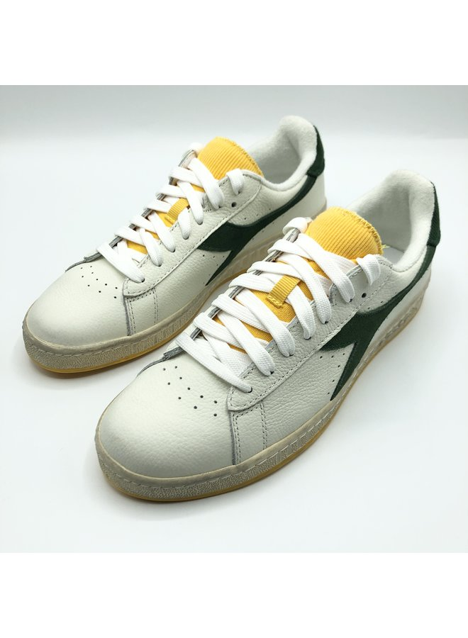 Game L low icona. White/greener pastures / gold
