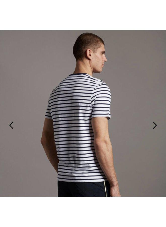 Breton stripe t-shirt - white/navy