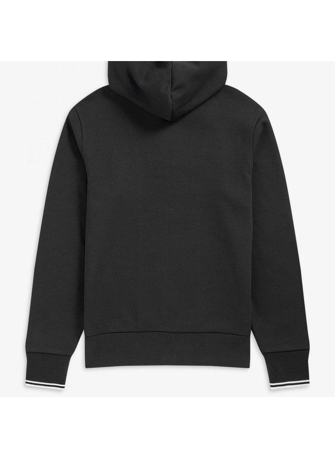 Hooded zip through sweatshirt / black