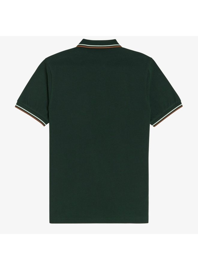 Twin tipped fred perry shirt green/snow